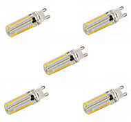 5pcs E14/G9/G4/E17/E12/E11/BA15D 12W 152x3014 SMD 1200LM Warm White / White Dimmable Corn Bulbs (AC 110V / AC 220V)