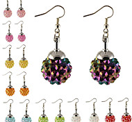 HUALUO®Starry Candy Color Flash Magic Ball Silver Earrings