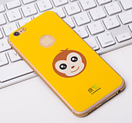 Cute Yellow Anti-radiation iPhone6 Plus Case Graphene Cooling Phone Stickers Cover with Monkey for Apple iPhone6 Plus