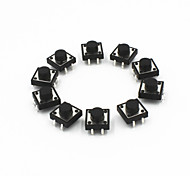 12 x 12 x 7mm commutateurs de tact (10 pcs)