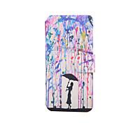 Regenschirm-Muster PU-Leder Ganzkörper-Fall mit Ständer für den iPod touch 5/6