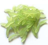 Anmuka Soft Bait 0.04 g 50 pcs 25mm*4mm*4mm  Fishing Lure Maggot Grub Soft Baits Worms Noctilucent Luminous