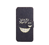 We're All Mad Here Pattern PU Leather Full Body Case with Stand for iPod Touch 5/6