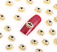 New 20PCS Nail Art Jewelry Pinkie Nail Decorations Alloy Rhinestone Aryclic Nails Nail Tips Decorations