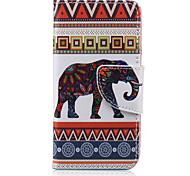 kleine Elefant-Muster PU-lederne Mappe Design Ganzkörper-Fall mit Ständer für den iPod touch 5/6