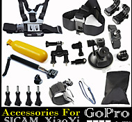 Accessories Chest Belt Head Strap Mount Handlebar Float Grip Handle Monopod Auto Suction Cup for GoPro Hero