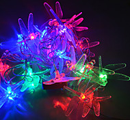 YouOkLight® 4M 20LEDs RGB LED Dragonfly String Lights Christmas String Light For Decoration (AC 110-220V)
