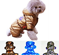 Cat / Dog Coat / Hoodie Blue / Purple / Gold Winter Sport Cosplay