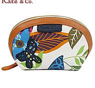 kate.co® Women Cowhide / Canvas Clutch Multi-color - TH-02112