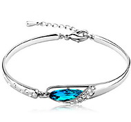Woman Glass Slipper Aquamarine Sterling Silver  Bracelets