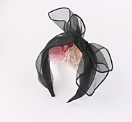 Silk Mesh Fabric Knot Head Band