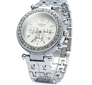 Women Rhinestone Ladies Dress Geneva Quartz Watches(Assorted Colors)