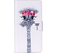 Ostrich Pattern PU Leather Case with Card Slot and Stand for Samsung Galaxy S4 mini/S3mini/S5mini/S3/S4/S5/S6