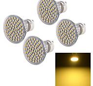 5W GU10 Faretti LED A50 60 SMD 3528 450 lm Bianco caldo Decorativo AC 220-240 V 4 pezzi