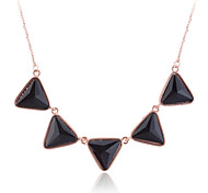 European Style Fashion Individuality drill triangle gold plating Pendant Necklace