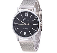 Woman's Watch GENEVA Silver Mesh Belt Watch