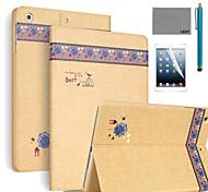 lexy® feuilles d'automne modèle PU cas de stand en cuir flip avec protecteur d'écran et un stylet pour iPad air 2 / ipad 6