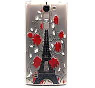 Transmission tower Pattern TPU Relief Back Cover Case for  LG Spirit H440N/H422