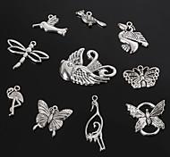 beadia старинное серебро металл очарование подвески стрекоза бабочка птица&Кран поделки украшения подвеска