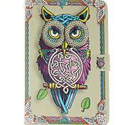 Cartoon Owls Pattern PU Leather Full Body Case with Stand and Card Slot for iPad mini 4