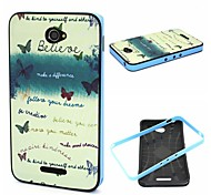 2-in-1 Bumblebee Your Dream Phrase Pattern TPU Back Cover + PC Bumper Shockproof Soft Case For Sony E4