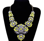 Fashion Women Chain Yellow Flower Pendant Necklace Chain
