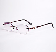 [Free Lenses]  Women 's Oval Rimless Reading Glasses