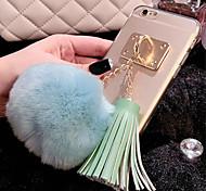 Luxury Rabbit Hair Ball Tassel Pendant TPU Cases for iPhone 6 Plus/iPhone 6S Plus(Assorted Colors)