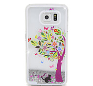 Color Tree Flow Sand PC Material Cell Phone Case for Samsung Galaxy S6/S6 edge