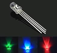 5mm 4 broches RGB LED de couleur pleine cathode commune - transparentes (10 pièces)