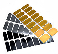 1 PCS Black and Silver Metal Full Cover Nail Stickers