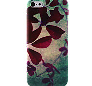Red leaves Pattern TPU Case for iPhone 5C