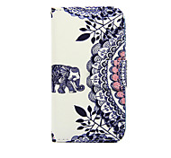 For Nokia Case Wallet / Card Holder / with Stand Case Full Body Case Elephant Hard PU Leather Nokia Nokia Lumia 630