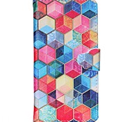 Hexagon Pattern Full Body Cover with Card Slot for Samsung Grand Prime