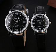 Fashion Roman Number Quartz Couple Wristwatches