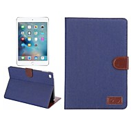 Multifunction Jeans Denim Wallet Flip Case With Credit Card Cover Cowboy Bag for iPad Air(Assorted Colors)