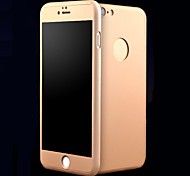 For iPhone 7 Case / iPhone 7 Plus Case / iPhone 6 Case / iPhone 6 Plus Case Shockproof / Other Case Full Body Case Solid Color Hard Metal