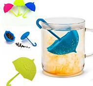 Silicone Umbrella Shaped Tea Infuser Loose Tea Leaf Filter Strainer (Random Color)