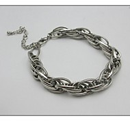 Fashion Gold/Silver Alloy Chain And Chain Bracelet(1 piece)