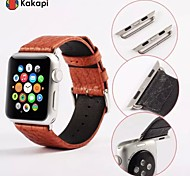 Kakapi Single Button With Connector Buffalo Hide Watchband Fashion Pu for Apple iWatch38/42mm Assorted Colors