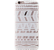 White National Wind Pattern Transparent Soft TPU Back Cover for iPhone 6/6S 4.7""