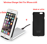 Tesla1856 Qi 3 Coils Foldable Wireless Charger Dock and receiver case for iPhone 6/6s