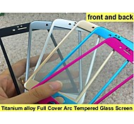 Titanium alloy Full Cover Arc Tempered Glass Screen Protector film  (front and back) for iPhone6