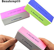 1PCS 4-Way Multi-Color Nail Art Buffing Block Sanding Files/Remove Ridges/Smooth Nail/Shine Nail