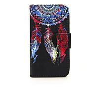 """Для Кейс для Nokia Кошелек / Бумажник для карт / со стендом Кейс для Чехол Кейс для Рисунок """"Ловец снов"""" Твердый Искусственная кожа Nokia"""