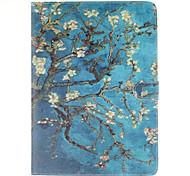Marillenblüte Baum PU-Leder Ganzkörper-Fall mit Standplatz und Kartensteckplatz für Galaxy Tab s2 8.0 T715 / Galaxy Tab s2 9.7t815