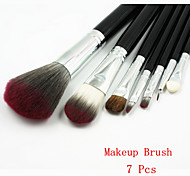 7PCS  New Professional Black Makeup Brush Sets  Cosmetic Brushes