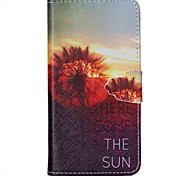 Sunset Dandelion Pattern PU Leather Case with Card Slot and Stand for Samsung Galaxy S4 mini/S3mini/S5mini/S3/S4/S5/S6