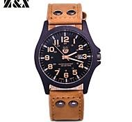 Men's Fashion Quartz Analog Leather Bracelet Watch(Assorted Colors) Cool Watch Unique Watch