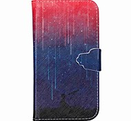 Gradient Meteor Pattern PU Leather Case with Card Slot and Stand for Samsung Galaxy S4 mini/S3mini/S5mini/S3/S4/S5/S6